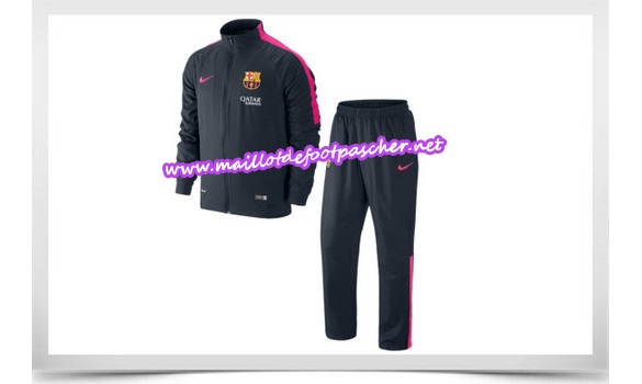 maillots-fr: Survetement de foot BARCELONE NOIR 2014/2015