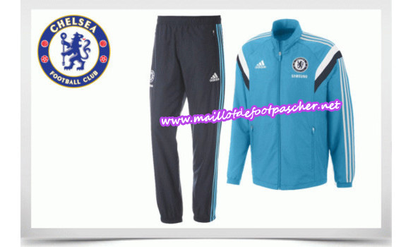 maillots-fr: Survetement de foot CHELSEA BLEU 2014/2015