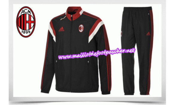 maillots-fr: Survetement de foot MILAN AC NOIR 2014/2015