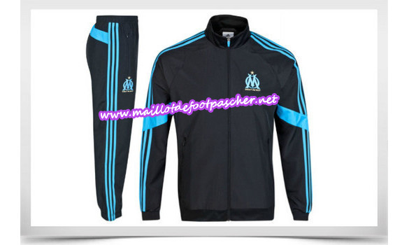 maillots-fr: Survetement de foot OM NOIR 2014/2015