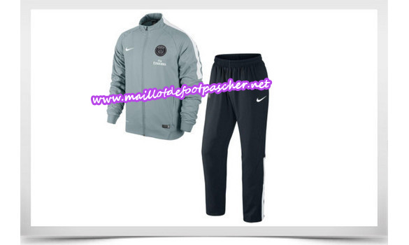 maillots-fr: Survetement de foot PSG GRIS 2014/2015