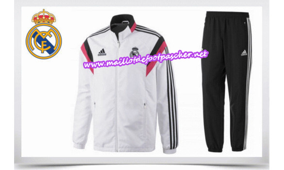 maillots-fr: Survetement de foot REAL MADRID BLANC 2014/2015