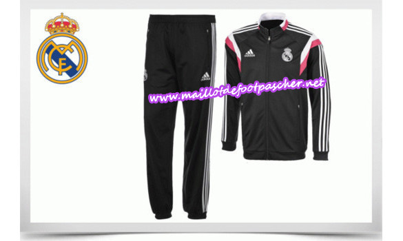 maillots-fr: Survetement de foot REAL MADRID NOIR 2014/2015