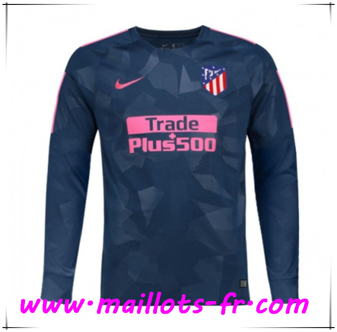 Maillots-fr Thailande Maillot de foot Atletico Madrid Manche Longue 2017/2018 Third