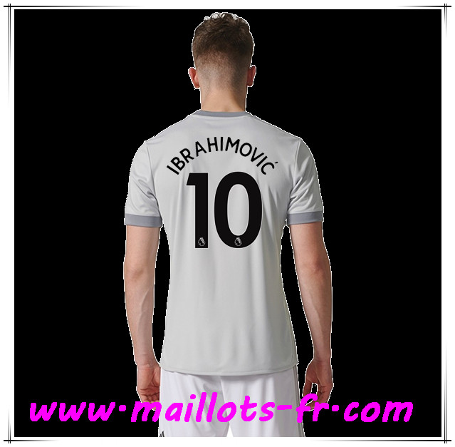 maillots-fr Maillot de Foot Manchester United (IBRAHIMOVIC 10) Third 2017 2018