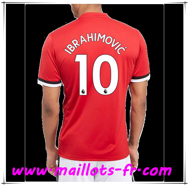 maillots-fr Maillot de Foot Manchester United (IBRAHIMOVIC 10) Domicile 2017 2018
