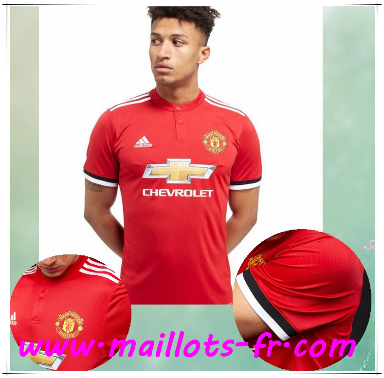 maillots-fr Maillot de Foot Manchester United Domicile 2017/2018