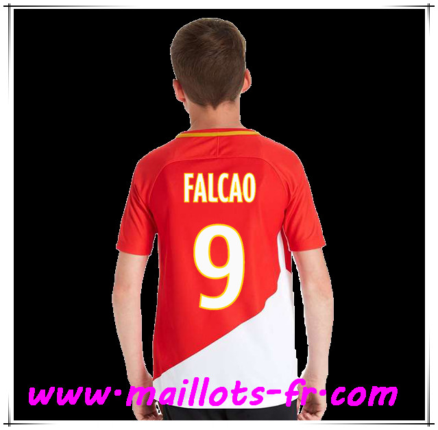 maillots-fr Maillot de Foot AS Monaco (Falcao 9) Enfant Domicile 2017 2018