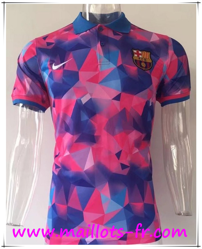 maillots-fr Polo FC Barcelone Diamant Rose 2017 2018
