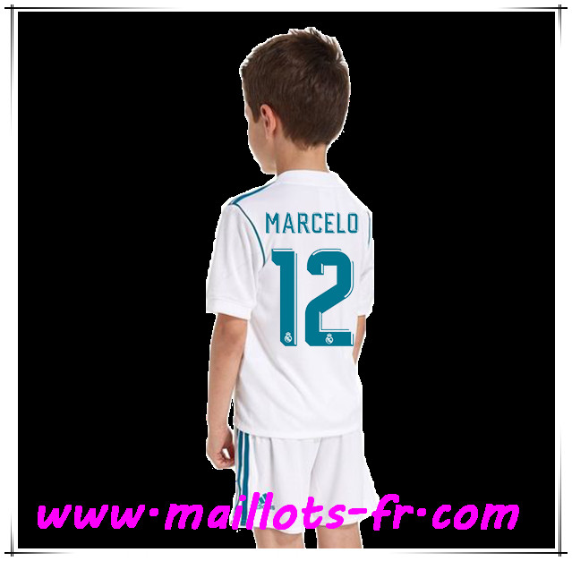 maillots-fr Maillot de Foot Real Madrid (MARCELO 12) Enfant Domicile 2017 2018