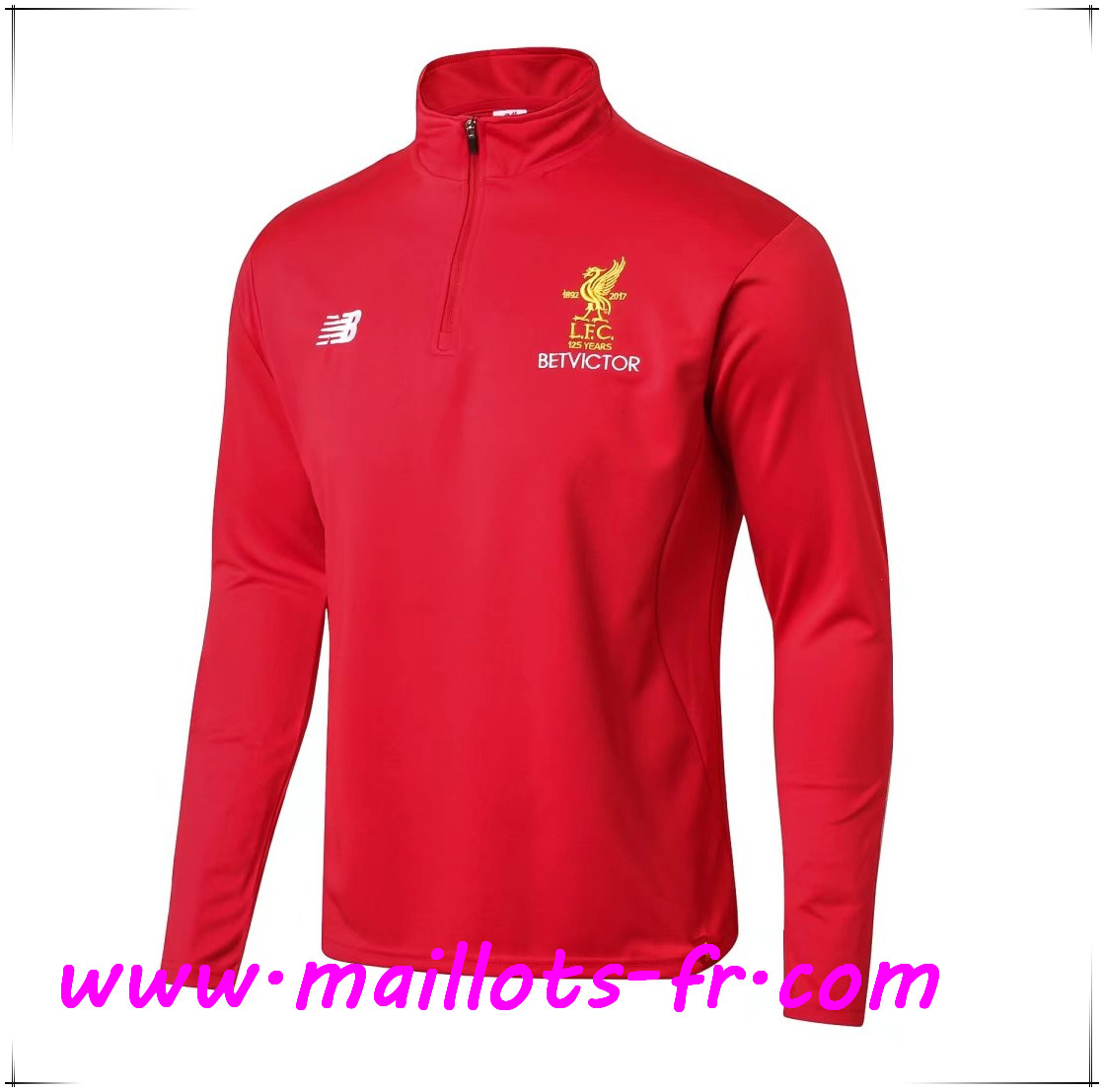 Maillots-fr Thailande Sweatshirt Training FC Liverpool Rouge 2017/2018