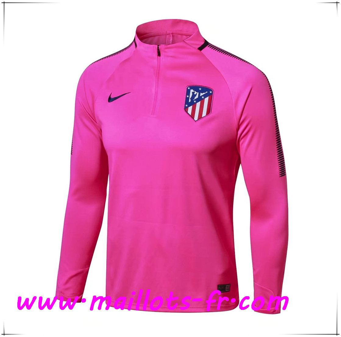 Maillots-fr Thailande Sweatshirt Training Atletico Madrid Rose 2017/2018