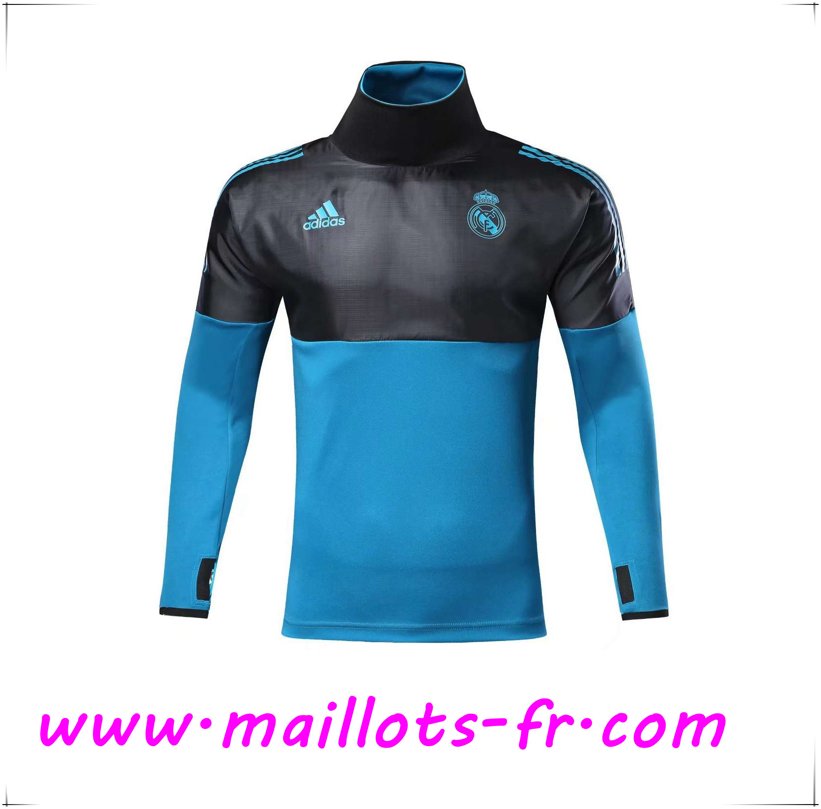 achat Maillots fr Sweatshirt Training Real Madrid NoirBleu
