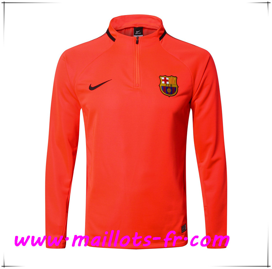 Maillots-fr Thailande Sweatshirt Training FC Barcelone Orange 2017/2018