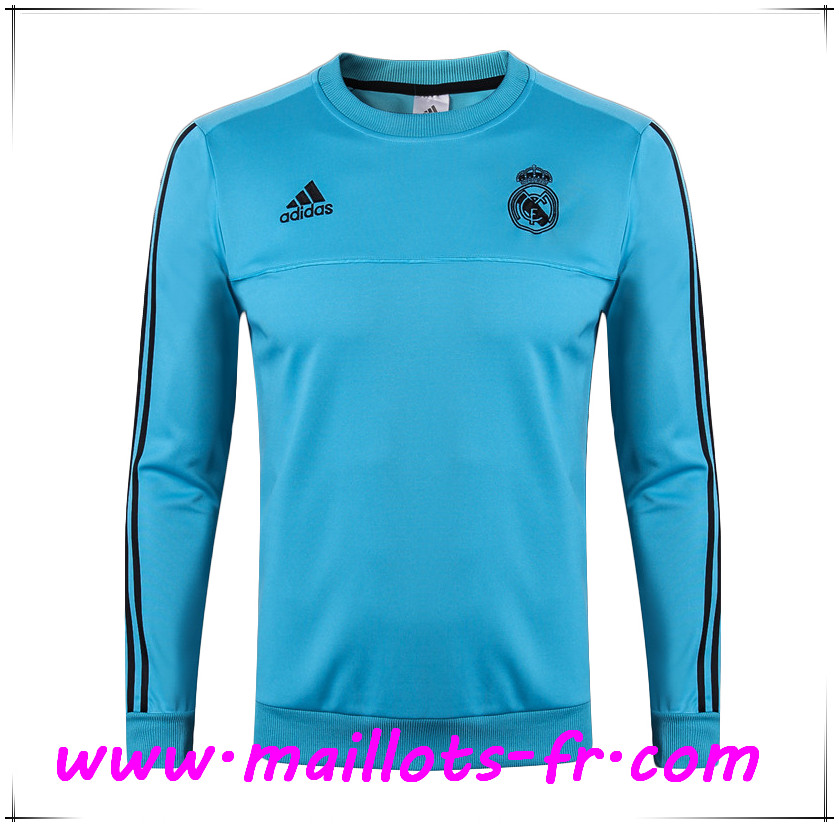 Maillots-fr Thailande Sweatshirt Training Real Madrid Bleu 2017/2018