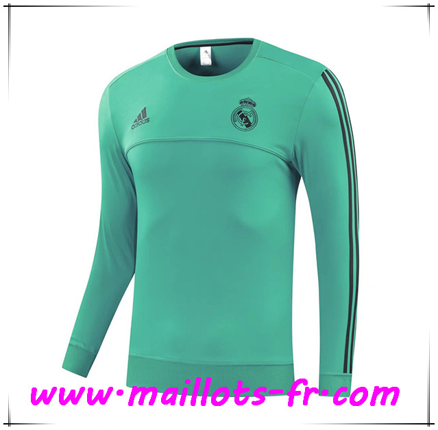 Maillots-fr Thailande Sweatshirt Training Real Madrid Vert 2017/2018