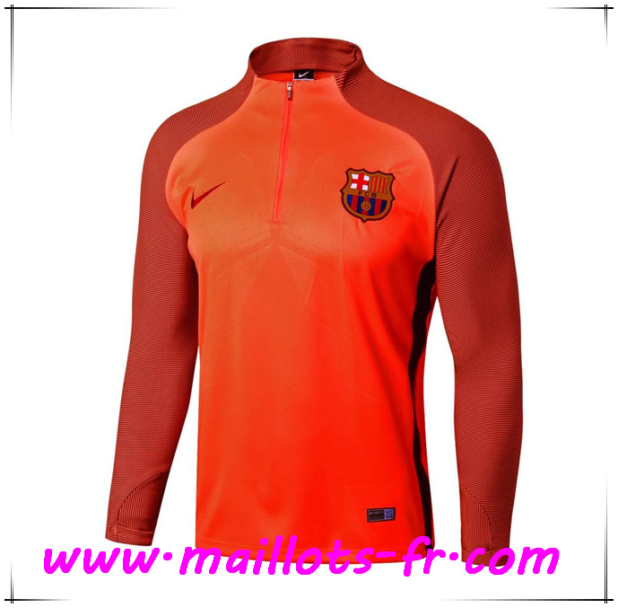 Maillots-fr Thailande Sweatshirt Training FC Barcelone Orange Strike Drill 2017/2018
