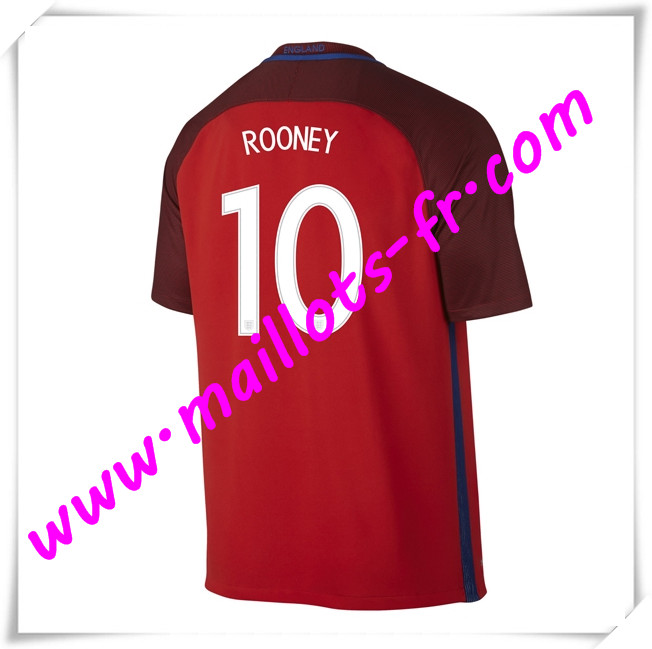 maillots-fr Maillots Equipe De Angleterre (ROONEY 10) 2016 2017 Exterieur