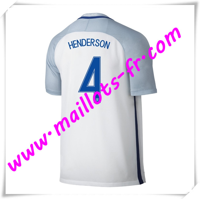 maillots-fr Maillots Equipe De Angleterre (HENDERSON 4) 2016 2017 Domicile