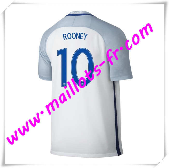 maillots-fr Maillots Equipe De Angleterre (ROONEY 10) 2016 2017 Domicile
