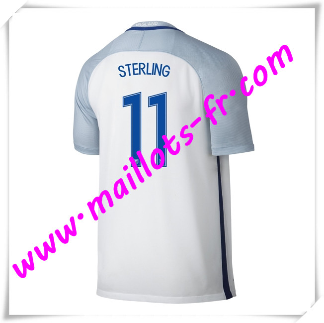 maillots-fr Maillots Equipe De Angleterre (STERLING 11) 2016 2017 Domicile