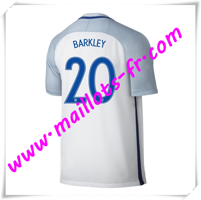 maillots-fr Maillots Equipe De Angleterre (BARKLEY 20) 2016 2017 Domicile
