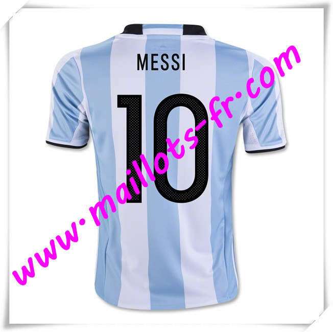 maillots-fr Maillots Equipe De Argentine (MESSI 10) 2016 2017 Domicile