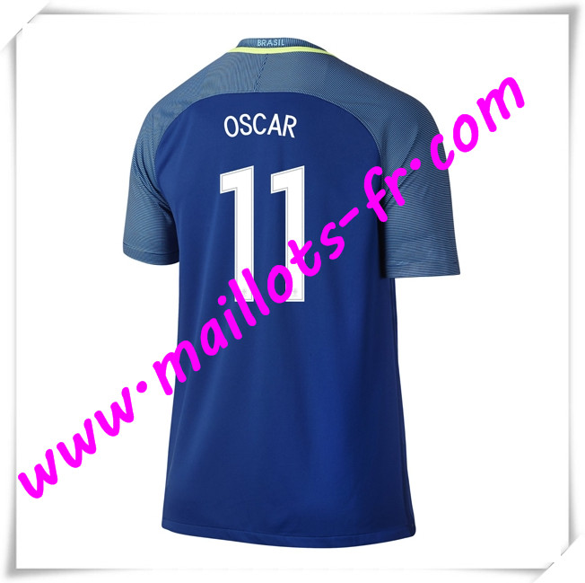 maillots-fr Maillots Equipe De Bresil (OSCAR 11) 2016 2017 Exterieur