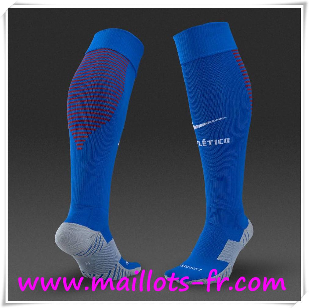 Nouveau Chaussettes De Foot Atletico de Madrid Bleu 2016 2017 Domicile