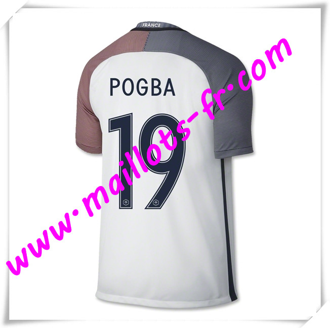 maillots-fr Maillots Equipe De France (POGBA 19) 2016 2017 Exterieur