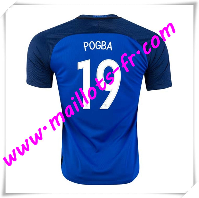 maillots-fr Maillots Equipe De France (POGBA 19) 2016 2017 Domicile