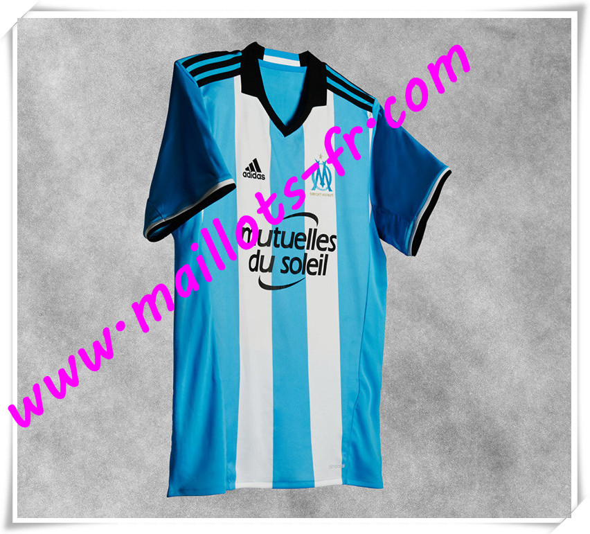 maillots-fr Maillot de foot Marseille 2016 2017 Third pas cher