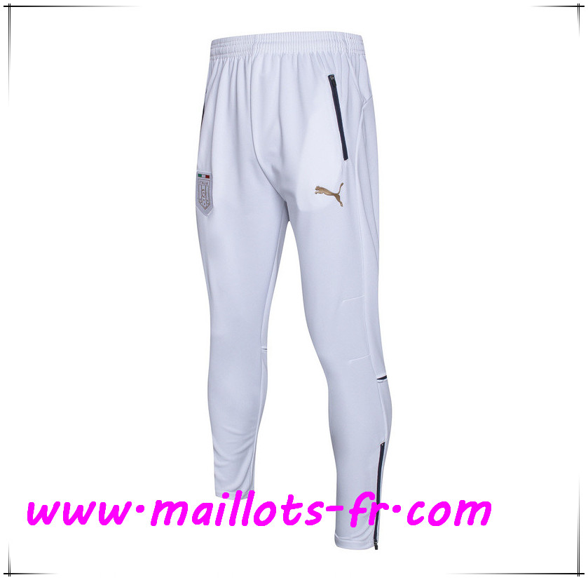 copie Maillots fr Training Pantalon Foot Italie Blanc 2017
