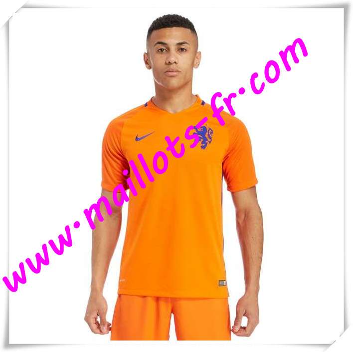 maillots-fr Maillots Equipe De Pays-Bas 2016 2017 Domicile