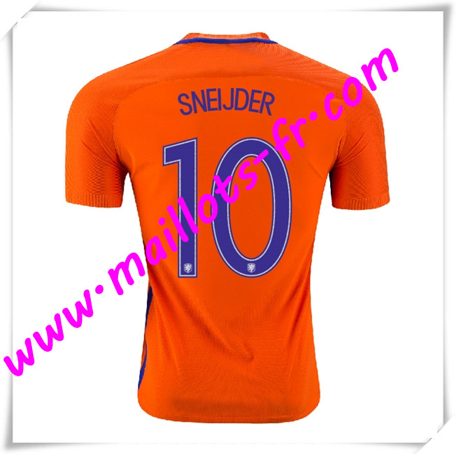 maillots-fr Maillots Equipe De Pays-Bas (SNEIJDER 10) 2016 2017 Domicile