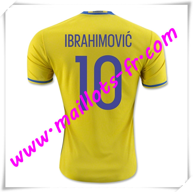 maillots-fr Maillot Equipe de Suede (IBRAHIMOVIC 10) 2016 2017 Domicile