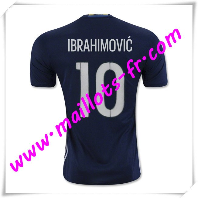 maillots-fr Maillot Equipe de Suede (IBRAHIMOVIC 10) 2016 2017 Exterieur