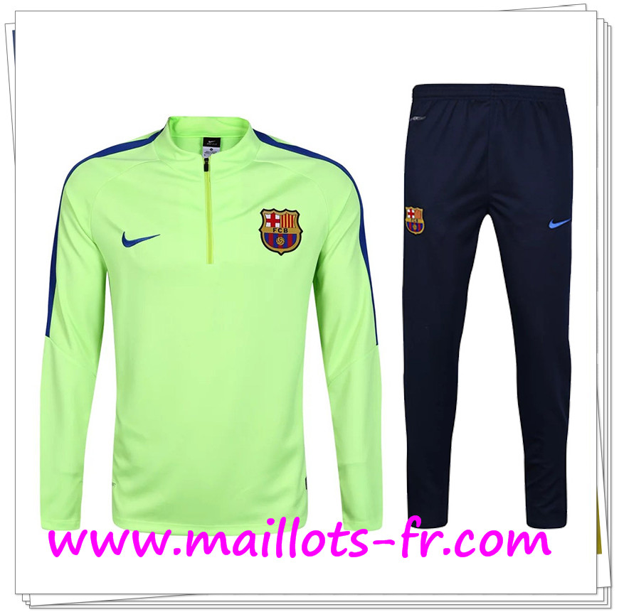 maillots-fr Survetement de foot FC Barcelone Vert 2016/2017 Ensemble