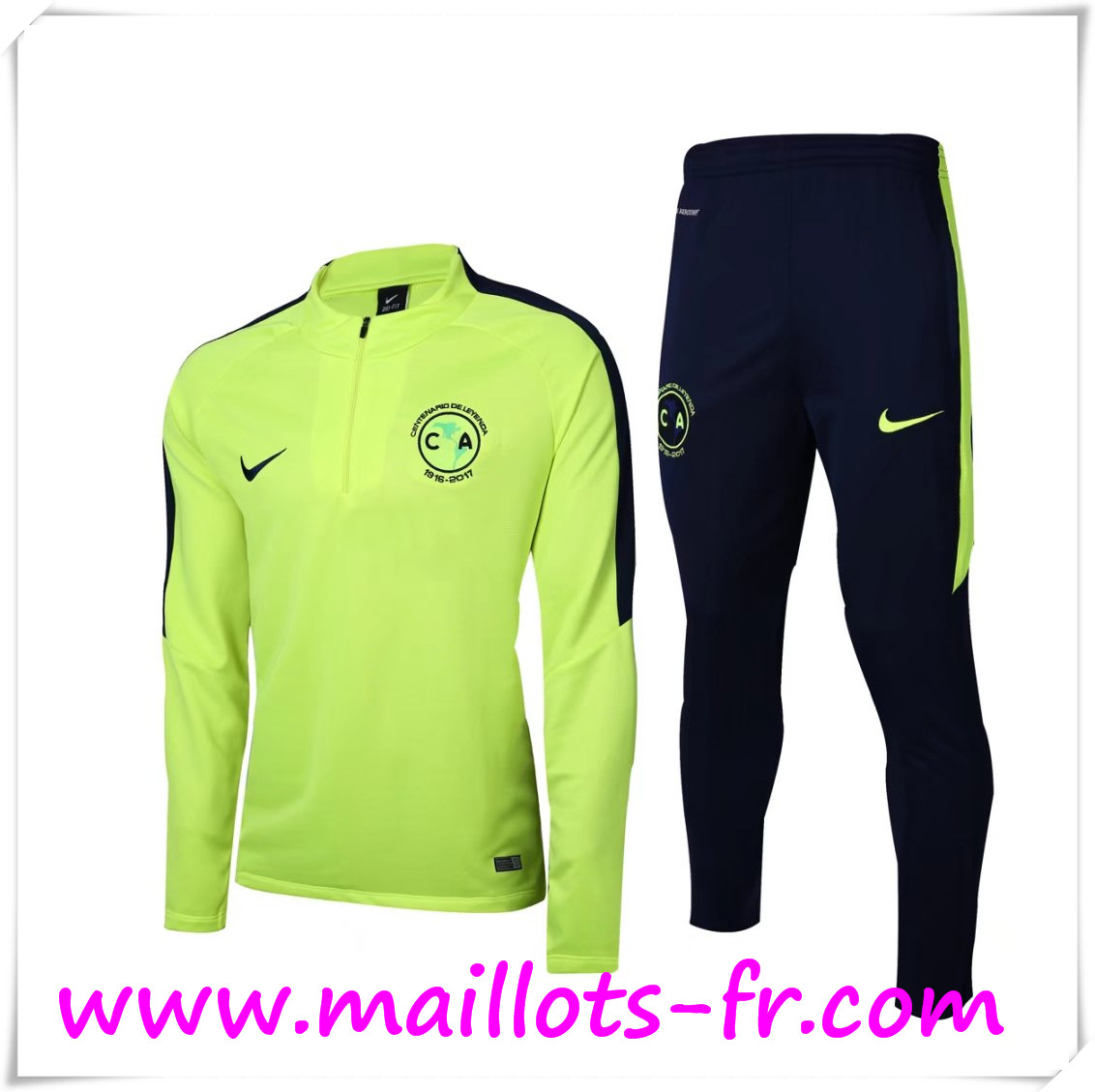maillots-fr Survetement de Foot Club América Vert 2016 2017 Ensemble