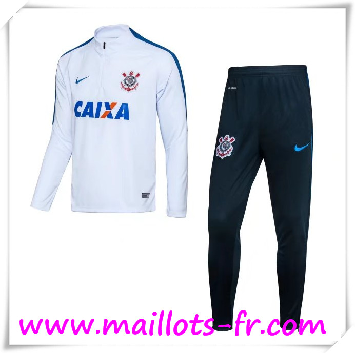 maillots-fr Survetement de Foot Corinthians Blanc 2016 2017 Ensemble