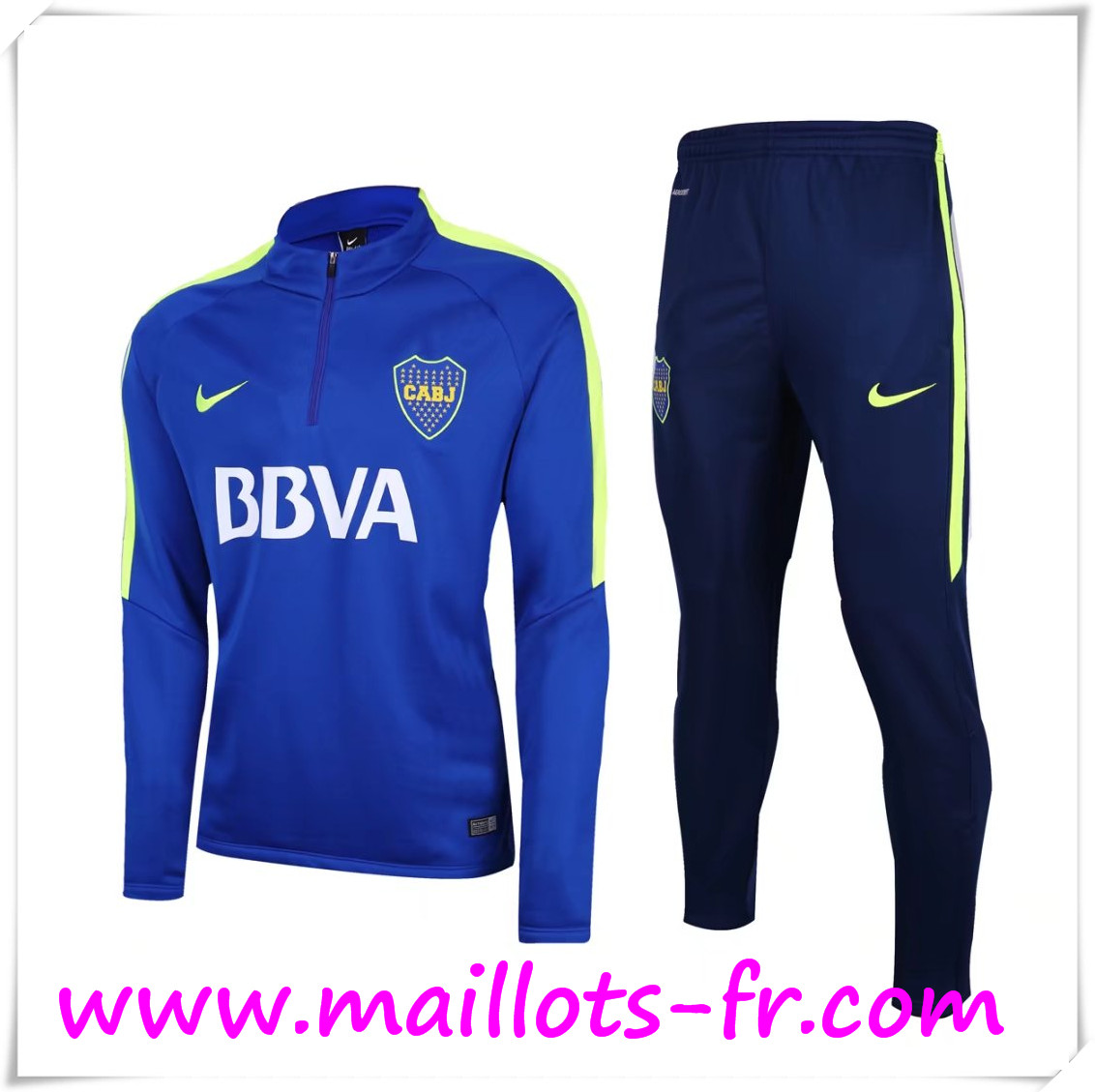 maillots-fr Survetement de Foot Boca Juniors Blue 2016 2017 Ensemble