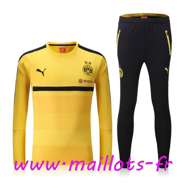 maillots-fr - Survetement de foot Dortmund BVB Jaune 2016 2017