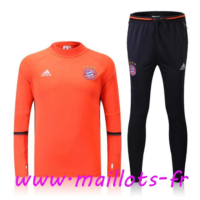 maillots-fr - Survetement de foot Bayern Munich Orange 2016 2017