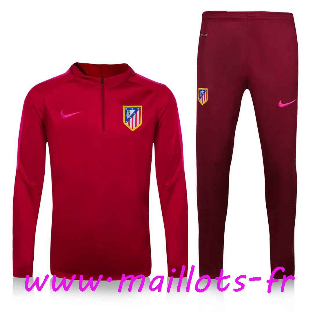 maillots-fr - Survetement de foot Atletico Madrid Orange 2016 2017