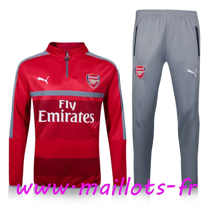 maillots-fr - Survetement de foot Arsenal Orange/Gris 2016 2017
