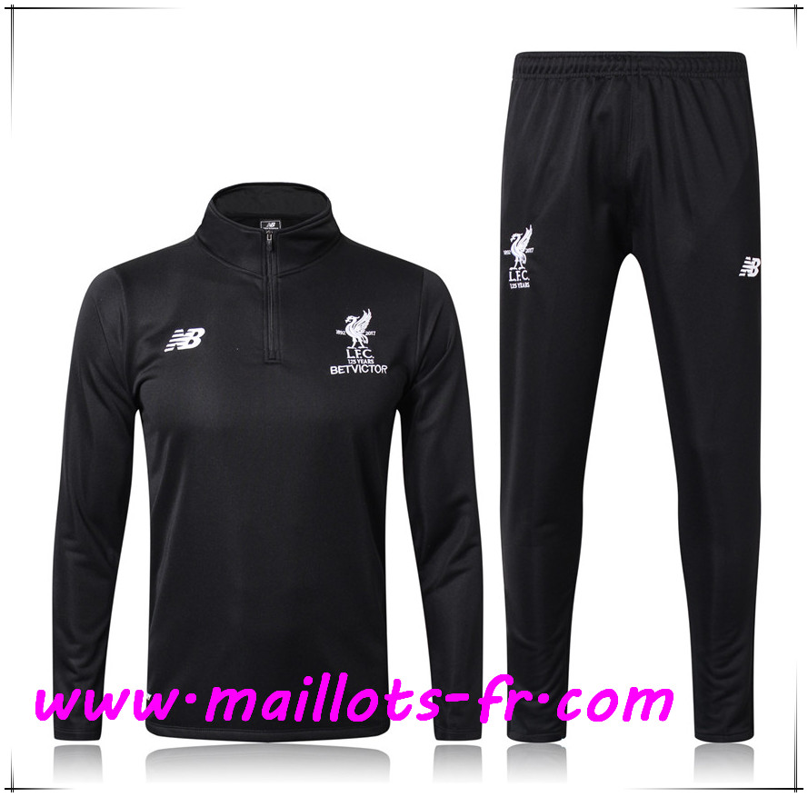 Maillots-fr Thailande Survetement de Foot FC Liverpool Noir 2017/2018 Ensemble