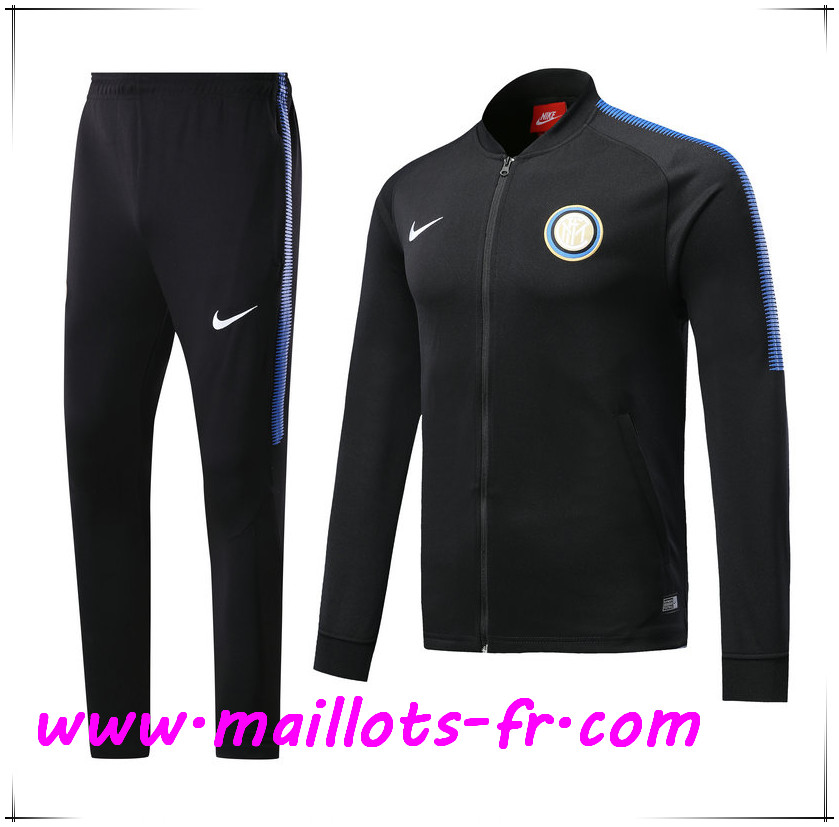 Maillots-fr Thailande Survetement de Foot - Veste Inter Milan Noir Ensemble 2017/2018