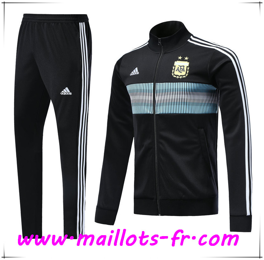 Maillots-fr Thailande Survetement de Foot - Veste Argentine Noir Ensemble 2018/2019