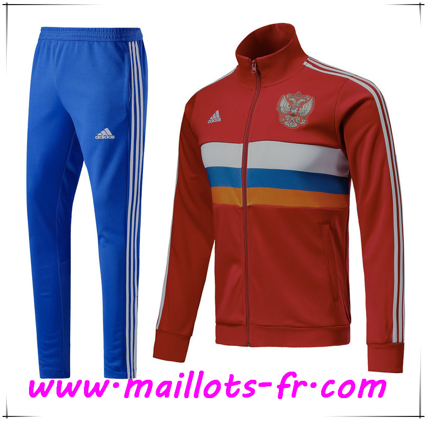 Maillots-fr Thailande Survetement de Foot - Veste Russie Rouge Ensemble 2018/2019