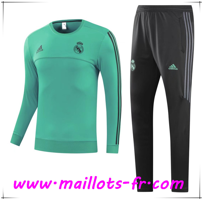 Maillots-fr Thailande Survetement de Foot Real Madrid Vert Ensemble 2017/2018